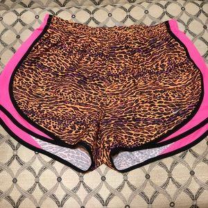 ⭐️ NIKE orange pink leopard print running shorts
